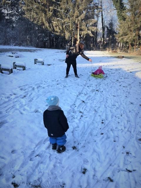 Ježki smo se veselili na snegu